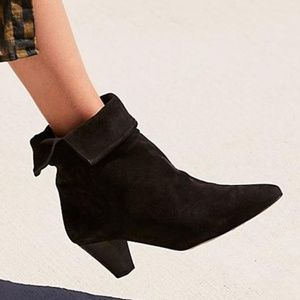 FREE PEOPLE Adella Heel Boot Suede - Size 37 / 7